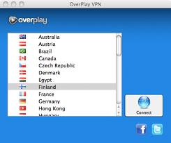 Overplay VPN Menu