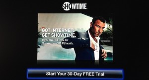 Showtime 30 days Free trial